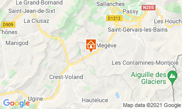 Map Megève Studio apartment 92363