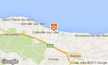 Map Arromanches Self-catering property 36408
