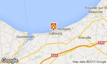 Map Cabourg Apartment 10748