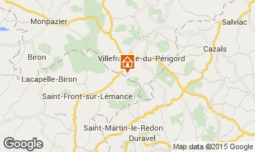 Map Villefranche du Périgord Self-catering property 51192