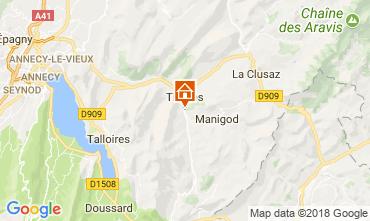 Map La Clusaz Self-catering property 112920