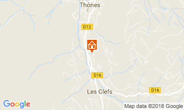 Map La Clusaz Self-catering property 112920