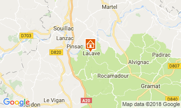 Map Rocamadour Self-catering property 113144