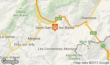 Map Saint-Gervais-les-Bains Apartment 2555