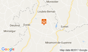 Map Duras Self-catering property 111774