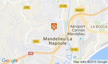 Map Mandelieu la Napoule Apartment 107349