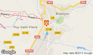 Map Briançon Apartment 501