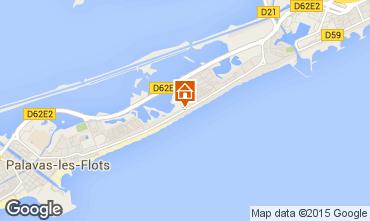 Map Palavas-les-Flots One-room studio flat 95993