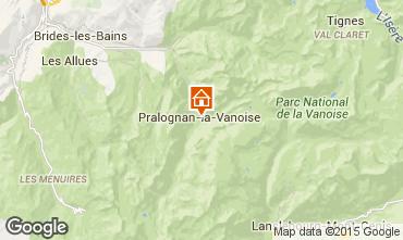 Map Pralognan la Vanoise Apartment 2287
