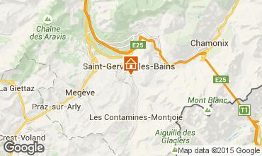 Map Saint Gervais Mont-Blanc Apartment 58539