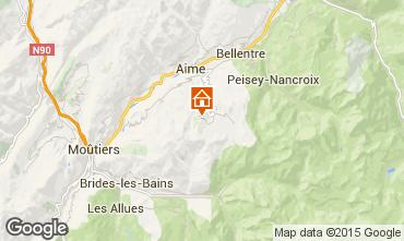 Map La Plagne Studio apartment 59172