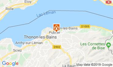 Map Evian les Bains Apartment 106719