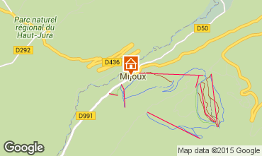 Map Monts Jura Apartment 59712