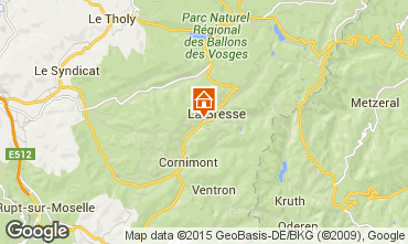 Map La Bresse Apartment 92245