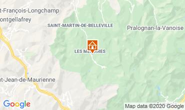 Map Les Menuires Apartment 1629