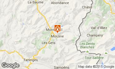 Map Morzine Studio apartment 87233