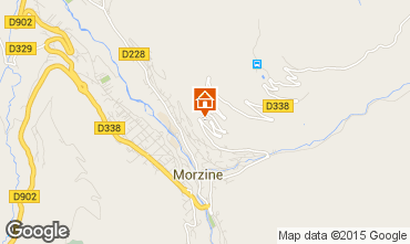 Map Morzine Studio apartment 87233