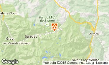 Map La Mongie Apartment 59557