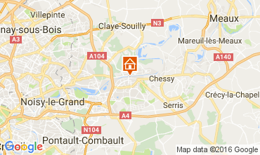 Map Marne la Vallée Apartment 106894