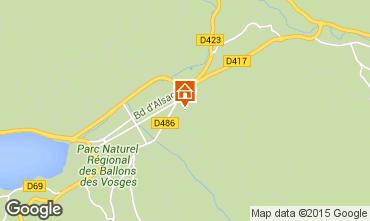 Map Gérardmer Self-catering property 79475