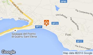 Map Quartu Sant'Elena Apartment 102637