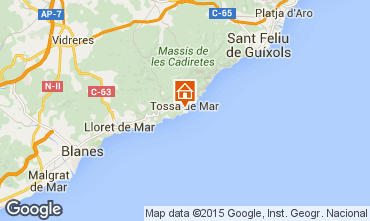 Map Tossa de Mar Apartment 97903