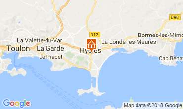 Map Hyères Studio apartment 109105