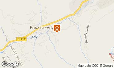 Map Praz sur Arly Apartment 66294