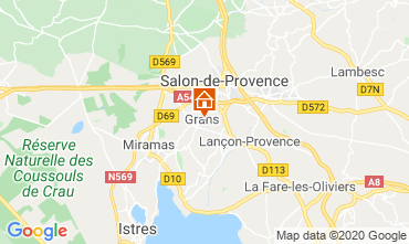 Map Salon de Provence Self-catering property 12967