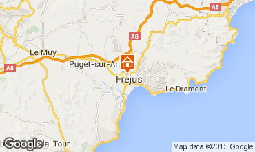 Map Fréjus Apartment 33469