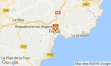 Map Fréjus Studio apartment 105544