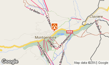 Map Montgenevre Apartment 73627