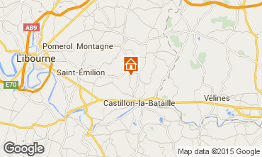 Map Saint Emilion Self-catering property 89660