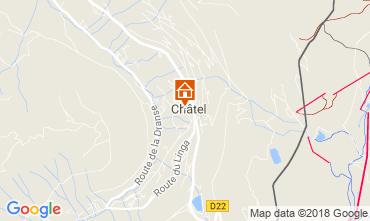 Map Châtel Studio apartment 106744