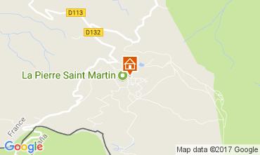 Map Arette La Pierre Saint Martin Studio apartment 66662