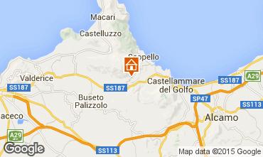 Map Scopello Studio apartment 77738