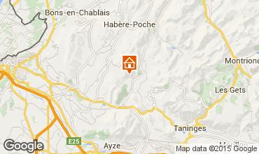 Map Praz de Lys Sommand Chalet 2373