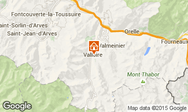 Map Valloire Chalet 81297