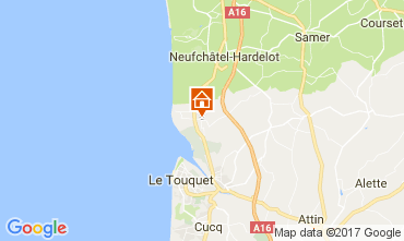 Map Le Touquet Mobile home 108559