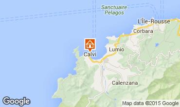 Map Calvi Studio apartment 85474