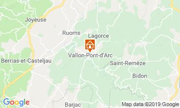 Map Vallon-Pont-D'Arc Apartment 32319