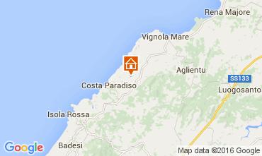 Map Trinità d'Agultu e Vignola Self-catering property 72675