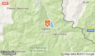 Map Tignes Apartment 3096