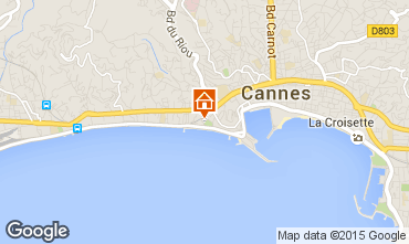 Map Cannes Apartment 66651