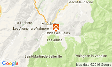 Map Brides Les Bains Studio apartment 106467