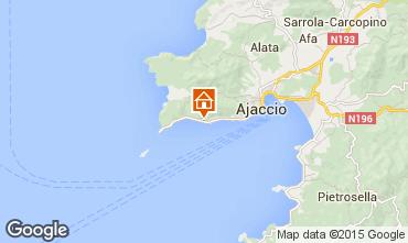 Map Ajaccio Apartment 54163