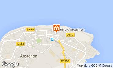 Map Arcachon Studio apartment 81586