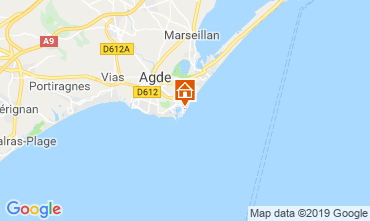Map Cap d'Agde Apartment 118541