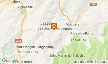 Map Valmorel Apartment 111312