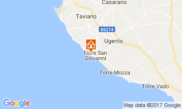 Map Ugento - Torre San Giovanni Apartment 108186
